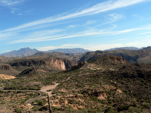 Beautiful and historic road from Apache Junction to